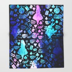 Alice in Wonderland - Galaxy Throw Blanket  (would also be ok with this as a comforter)