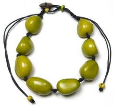 Tagua Whole Eco Friendly Necklace - Green  Price : $45.00 http://www.enloops.com/Tagua-Whole-Eco-Friendly-Necklace/dp/B009I9H5IY