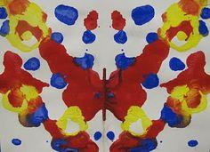 Painting symetry: kindergarten