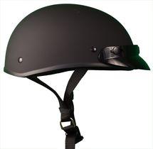 The Micro Slim Smallest lightest DOT Beanie Helmet - Flat Black / With Peak