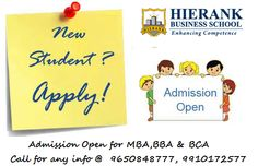 Admission open for MBA,BBA &BCA FEw Seats Left. Enroll now