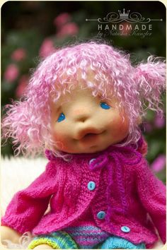 SOLD. Waldorf Inspired Baby-doll 15 inches Fiber by kiwinestling