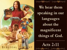 Tuesday, November 22 We hear them speaking in our languages about the magnificent things of God.—Acts 2:11. http://wol.jw.org/en/wol/h/r1/lp-e