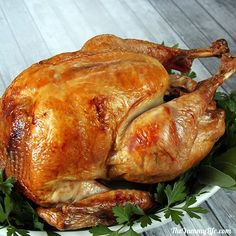 The Turkey was wonderful. Step-by-Step Guide to The Best Roast Turkey - Detailed photos & tips for beginner and experienced cooks for making an easy, perfectly cooked and moist turkey Thanksgiving Recipes, Holiday Recipes, Dinner Recipes, Thanksgiving Sides, Best Roasted Turkey, Baked Turkey, Moist Turkey, Enjoy Your Meal, Christmas Dishes