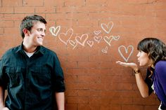 such a great idea for engagement photos