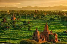A wonder of the world, the temples on the plain of Bagan are a sight to rival Cambodia's Angkor Wat