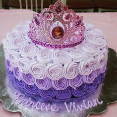Vivian's Princess Sofia the First ombre cake.