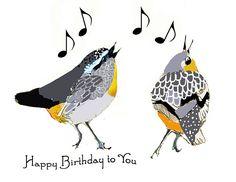 Singing Birthday Cards, Happy Birthday Birds, Happy Birthday Music, Happy Birthday Sister, Happy Birthday Quotes, Happy Birthday Greetings, Birthday Greeting Cards, Friend Birthday, Birthday Wishes