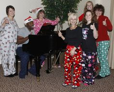 Christmas Sing-a-longs by the piano