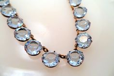 Hey, I found this really awesome Etsy listing at https://www.etsy.com/listing/207115059/art-deco-blue-austrian-crystal-necklace