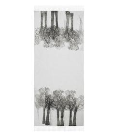 tree print scarf. simeon farrar.