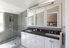 Modern Bathroom - Ring pulls!  contemporary - bathroom - san francisco - Feldman Architecture, Inc.