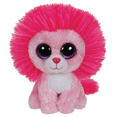 Shop for Ty Beanie Boo Plush - Fluffy The Pink Lion Starting from Choose from the 2 best options & compare live & historic toys and game prices. Ty Animals, Plush Animals, Big Eyed Stuffed Animals, Ty Beanie Boos Collection, Ty Peluche, Beanie Boo Birthdays, Rare Beanie Babies, Ty Babies, Ty Toys