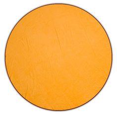 Round Orange Circle Designer Beach Towel
