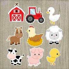 Farm Animal Party, Farm Animal Crafts, Farm Animal Birthday, Farm Birthday, Farm Party, Cow Birthday Parties, Baby First Birthday Cake, Craft Stick Crafts, Diy Crafts For Kids