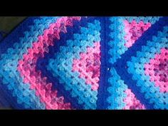 Squared Diamond Granny Throw – written pattern | Chrystal's Connections