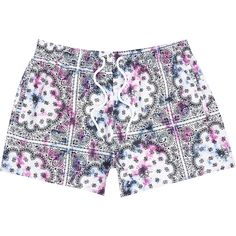 Purple tie dye bandana print swim short | River Island