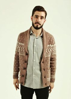 That is a man that looks good in a beard and an ugly sweater. Dang.