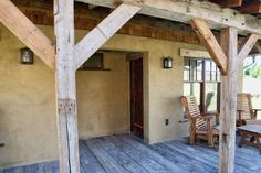 Beautiful straw bale house - front porch