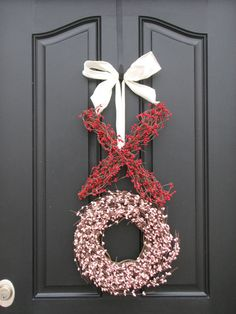 When it comes to Valentine's Day decor, think outside your average box of chocolates! Our Valentine's Day selection has bold reds and heartfelt styles that capture the style of the season. From pillows to banners, find the perfect Valentine's Day . Valentine Day Wreaths, Valentine Day Love, Valentines Day Decorations, Valentine Day Crafts, Valentine Ideas, Funny Valentine, Holiday Decorations, Homemade Valentines, Outdoor Decorations