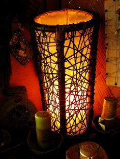 Handmade rattan lamp shade one of a kind art lamp arts and rattan weaved lamp shade by kaingud arts and crafts mozeypictures Image collections