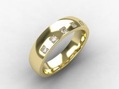 Men's Yellow Gold wedding band with Diamonds by TorkkeliJewellery, $1520.00
