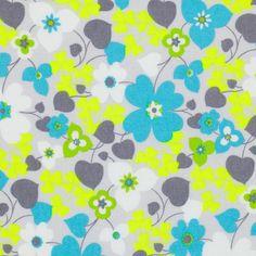 Tissu popeline grandes fleurs jaune fluo - Coton : popeline, voile et flanelle - MODE Mondial Tissus