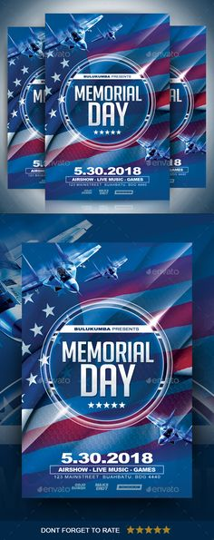 Memorial Day Flyer  Rgb Template And Memorial Day