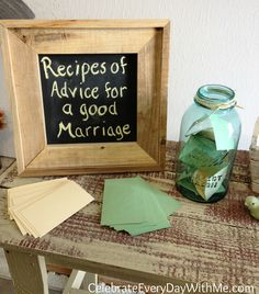 country shower - recipes of advice for a good marriage