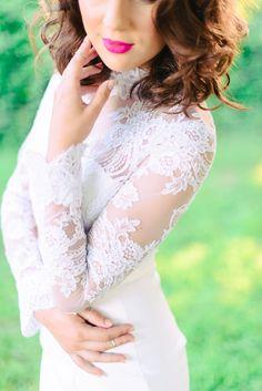 Sunny Palm Springs Wedding Inspiration from Madison Short Photography. Ballroom Wedding Dresses, Floral Wedding Gown, Pink Wedding Dresses, Lace Wedding, Wedding Bells, Wedding Gowns, Minimalist Wedding Dresses, Spring Wedding Inspiration, Long Sleeve Wedding