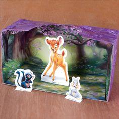 Bambi Shadow Box - printable from DisneyFamily - so cute!