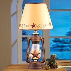 Creative Designs   Lantern Lamp Rustic Western Star Primitive Decor Home  Cabin Lodge
