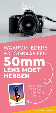 Foografie tips voor beginners: waarom elke fotograaf een 50mm lens moet hebben? Bijvoorbeeld vanwege de mooie scherptediepte door het grote diafragma, de gunstige prijs/kwaliteit verhouding. Meer lees je in het artikel. Download ook het gratis inspiratie Photo Maker, Camera Hacks, Perfect Photo, Photo Studio, Photography Tips, Photoshop, Lightroom, Lens, Nikon