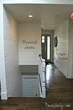 Thinking about planking a wall? The difference between using plywood planks vs. tongue and groove. 4men1lady.com