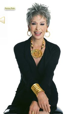 At Rita Moreno, the legendary star of stage and screen, has led quite a life and most of it has been an uphill battle. Her autobiographical new play Rita Moreno: Life Without Make-up, which op… Rita Moreno, Short Hair Cuts, Short Hair Styles, Short Hair Older Women, Short Grey Hair, Corte Y Color, Ageless Beauty, Going Gray, Aging Gracefully