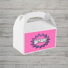 Superhero Party Box Labels | Jackal Design