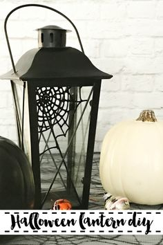 Make this spooky cool Halloween Lantern in less than 5 minutes with the simple DIY on Everyday Party Magazine. #MarthaStewart #Halloween #DIYHalloween