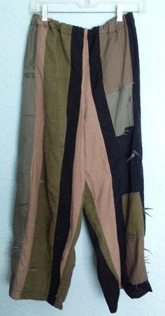 Cactus pants www.deborahmayaan.com Mori Girl Fashion, Girl Style, Wearable Art, Parachute Pants, Cactus, Fabric, Prickly Pear Cactus, Tejido, Tela
