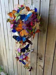 My friend made this. Floral Arch, Floral Wreath, Star Wars Wedding, Beautiful Butterflies, Corsage, Wind Chimes, Floral Wedding, Bouquets, Butterfly