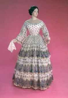 Summer Sheer Cotton Dress, ca. 1850