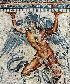 Etruscan God Typhon similar to Garuda & Hanuman. Etruscan civiliaztion existed with a distinct language and culture during the period of earliest European writing, in the Mediterranean Iron Age in the second half of the first millennium BCE. Most of Etruscan religion and mythology became part of classical Roman culture, including the Roman pantheon.