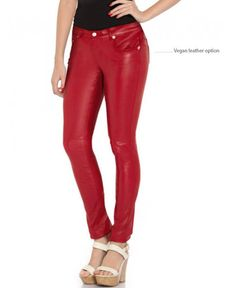 Skinny PVC jeans made of real glossy stretch vinyl (not lycra, spandex etc.) High-shine faux leather multi pockets pants. We make these pants using your measurements to perfectly fit all around your legs (including calfs and knees). C O L O R S • Red, Burgundy, Black, White, Light