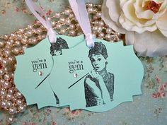 Breakfast At Tiffany's- Audrey Hepburn Tags  by asweetlittlenote. OMG! Freaking adorable!