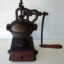 "ZASSENHAUS COFFEE ESPRESSO GRINDER MILL ANTIQUE VINTAGE 1800""s BIEDERMEIER"