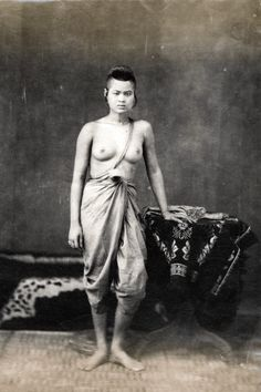 Woman from Siam in traditional costume, 1900
