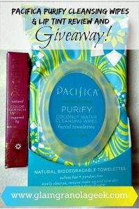 Pacifica Cleansing Wipes & Lip Tint Giveaway! Hurry, enter NOW! Ends Dec 22, 2014.