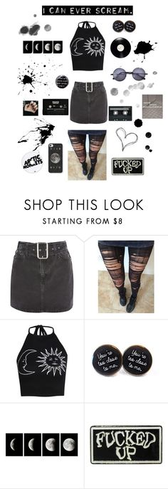 """Grunge #5"" by ellafourni3r ❤ liked on Polyvore featuring Topshop, Boohoo, WALL, CASSETTE, Sephora Collection and Hot Topic"