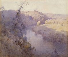 Penleigh Boyd (1890 — 1923, Australia) The river. 1919 watercolour. 45.3 x 53.7 cm.