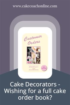 Wishing for a full cake order book - when you are running a cake business? Sometimes it can be feast or famine right? But having a professional way to capture orders and share the details with customers means that more orders are placed. The customers know what they are ordering and what to expect. This means you will be streaks ahead of any competition without any formal ordering system. Read our blog to find out what happened to one of my clients, when we put a system in place for them.