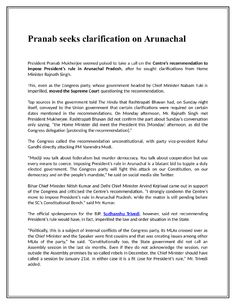 """  Pranab seeks clarification on Arunachal"" published by ""sudhanshutrivedi"" on @kinja"